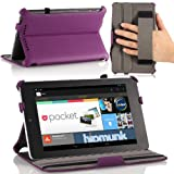 Google Nexus 7 Case - MoKo Slim-fit Cover Case for Google Nexus 7 Android Tablet by Asus, PURPLE (with Automatic Sleep/Wake Function, and Elastic Hand Strap)