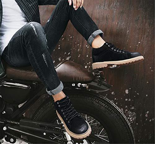 Con Hombre Para Botas Zapatos Mogeek Negro Ocio Cordones aZ8Xqvw