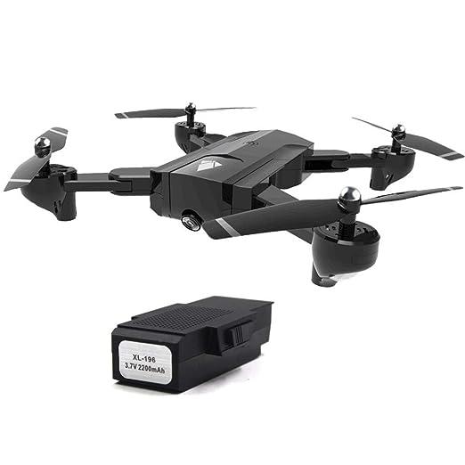 Drone RC con doble cámara, dron cuadricóptero plegable HD 4K, dron ...
