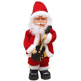 Canto Babbo Natale Giocattoli Decorazioni di Natale Batteria a Carica elettrica Bambola Musicale Decorazioni Musicali Babbo Natale Natale Cantare Giocattolo Bambini Natale Regalo