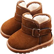 EsTong Toddler Baby Boy Girl Thick Outdoor Snow Boot Anti-Slip Fur Lined Booties