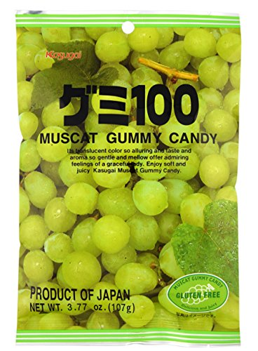 Kasugai Muscat Gummy Candy 3.77oz (3 Pack)