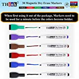 [30 Markers - 6 Colors] Think2 Magnetic Mini Dry