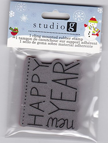 Studio G Cling Stamp Set Christmas - HAPPY NEW YEAR