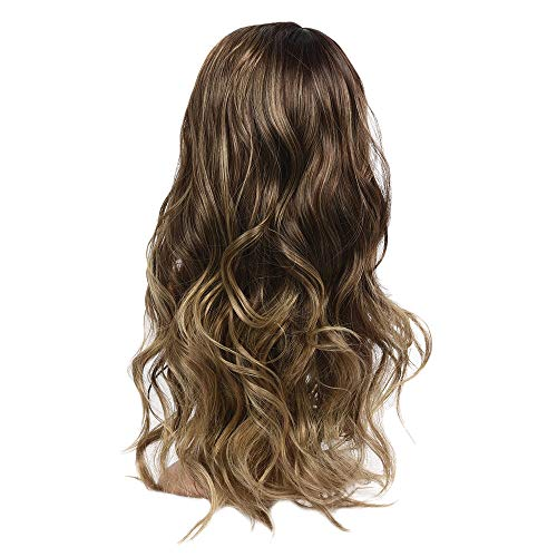 Inkach Clearance Long Wavy Wig, Black Womens Middle