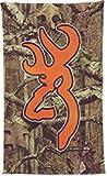 Spg Accessories BGT4056 Browning Beach Towel, Infinity Camo & Blaze Orange