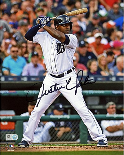 "Justin Upton Detroit Tigers Autographed 8"" x 10"" Hitting Photograph - Fanatics Authentic Certified - Autographed MLB Photos"