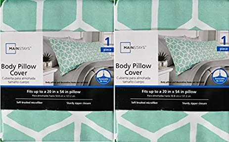 Amazon Mainstays Microfiber Body Pillow Cover Mint 40pack Mesmerizing Mainstays Body Pillow Cover