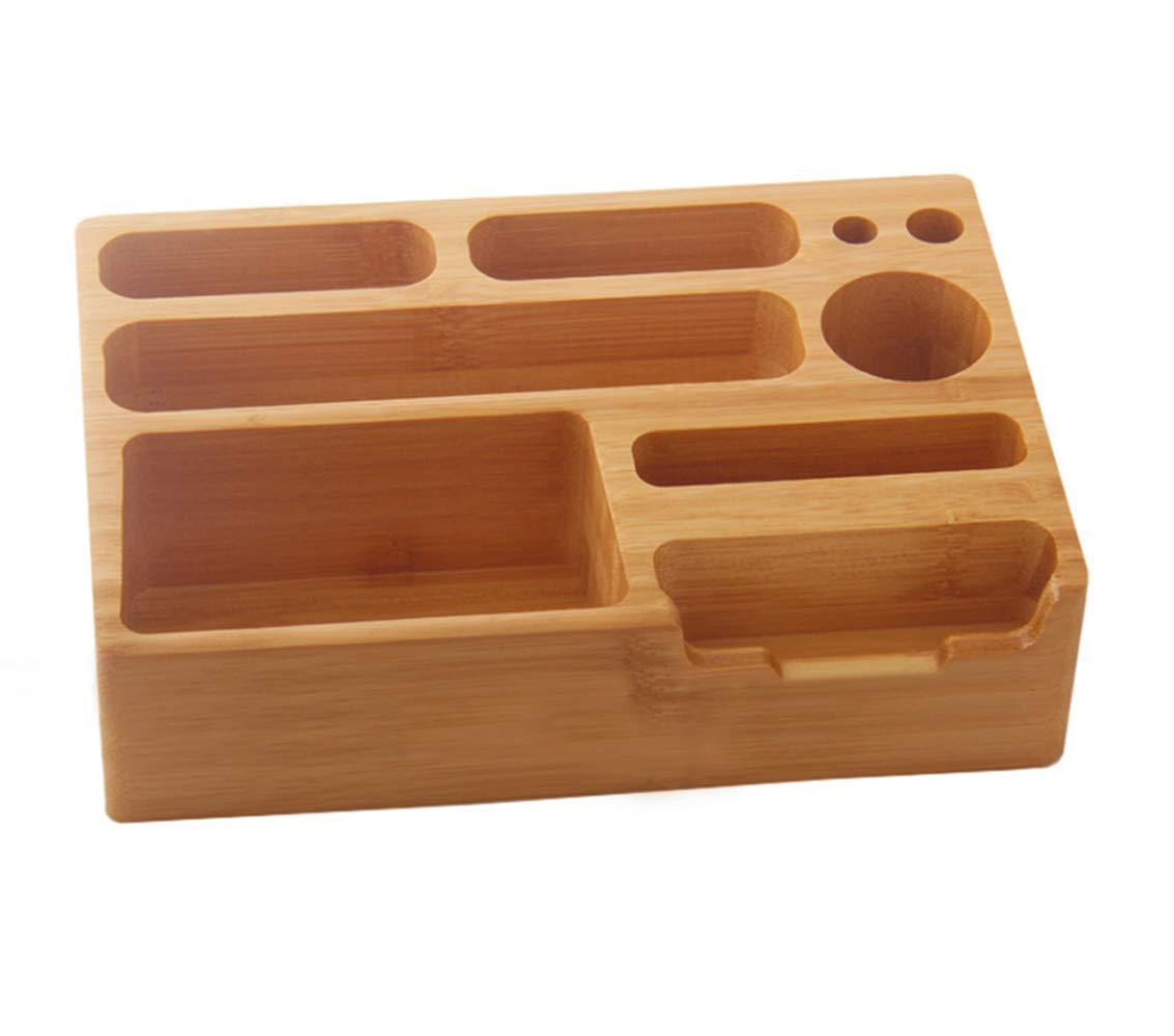 Amazon.com : alta calidad de bambú caja de almacenamiento móvil teléfono teledirigido Home Office organizador juguete cajas de almacenamiento : Office ...