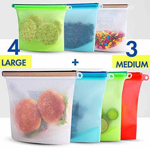 Silicone Reusable Sandwich Containers Conteiner product image
