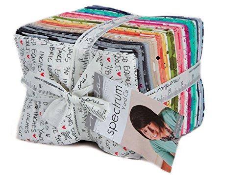 Spectrum by V and Co. Fat Quarter Bundle 30 Precut Cotton Fabric Quilting FQs Assortment for Moda, #10860AB by Moda Fabrics