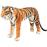 FIESTA CONCESSION Bengal Tiger Ride-On Oversized Stuffed Animal — 40in.