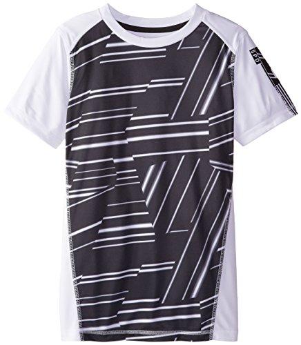 Reebok Big Boys' Tech Top Sleeve Artwork, White, X-Large