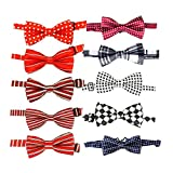 Itplus Pet Dog Cat Bow Ties Adjustable Neck Collar Boys Girls Bowknot Necktie for Wedding Party Grooming Accessories 10pcs Set