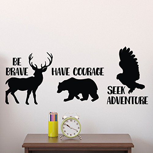 Be brave have courage seek adventure Vinyl Wall Decal by Wild Eyes (Tribal Sign)