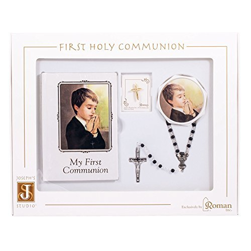 Praying Boy My First Communion Book and Rosary Set of -
