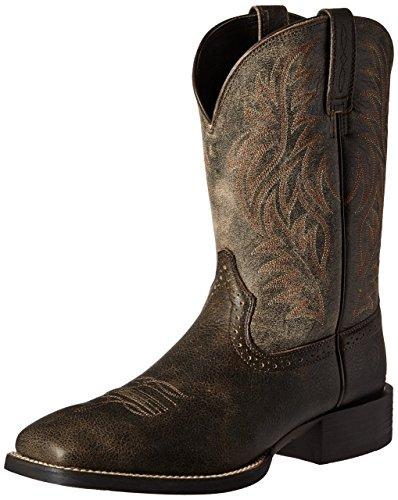 Ariat Mens Sport Västra Bred Fyrkantig Tå Western Cowboy Boot Brooklyn Brun