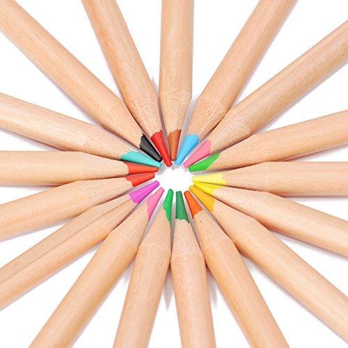7TECH 36 Colored Pencils Vibrant Colors Pre-sharpened Art Coloring Tools For Adults [並行輸入品]   B07HLFG47Q