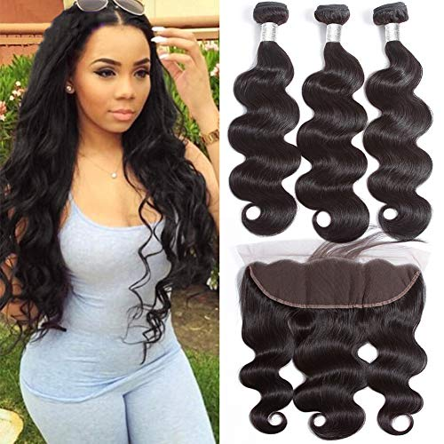 Brazilian-Body-Wave-Bundles-with-Frontal-Double-Weft-9A-Human-Hair-Bundles-with-13×4-Lace-Frontal-Soft-Brazilian-Hair-with-Frontal-14-16-1812