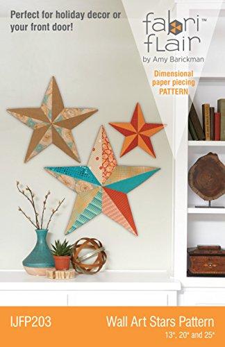 Fabriflair Wall Art Stars Pattern (Art Wall Quilt)