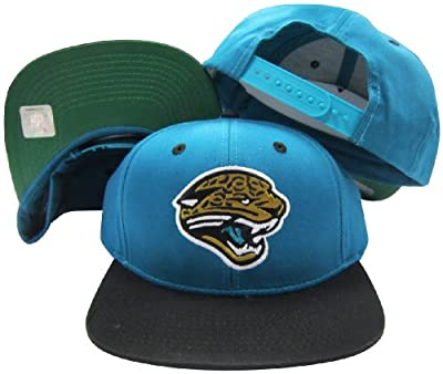 Jacksonville Jaguars Teal/Black Two Tone Plastic Snapback Adjustable Plastic Snap Back Hat/Cap