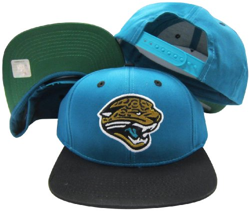 Jacksonville Jaguars Teal/Black Two Tone Plastic Snapback Adjustable Plastic Snap Back ()