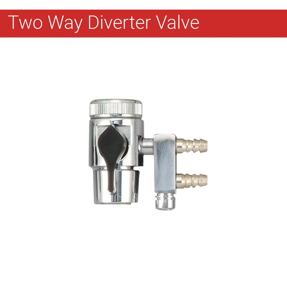 Two Way Diverter valve for 1/4'' Tube Reverse osmosis, RO DI water filter