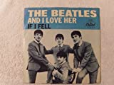 Beatles If I Fell / And I Love Her Original US 45 w/Picture Sleeve