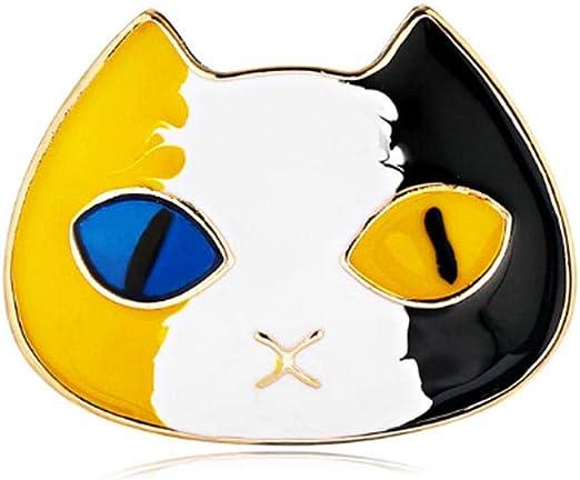 LifeJewelrySea Ojos Amarillos Azules Broche Cabeza De Gato De ...