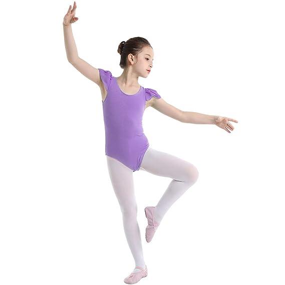 ranrann Maillot de Ballet Danza para Niña Leotardo Body de ...