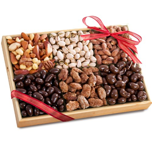 Golden State Fruit Savory, Sweet and Chocolate Deluxe Nuts Gift Tray