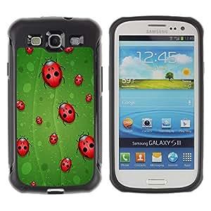 Suave TPU GEL Carcasa Funda Silicona Blando Estuche Caso de protección (para) Samsung Galaxy S3 III I9300 / CECELL Phone case / / Ladybug Leaf Green Red Art Nature Eco Spring Bug /