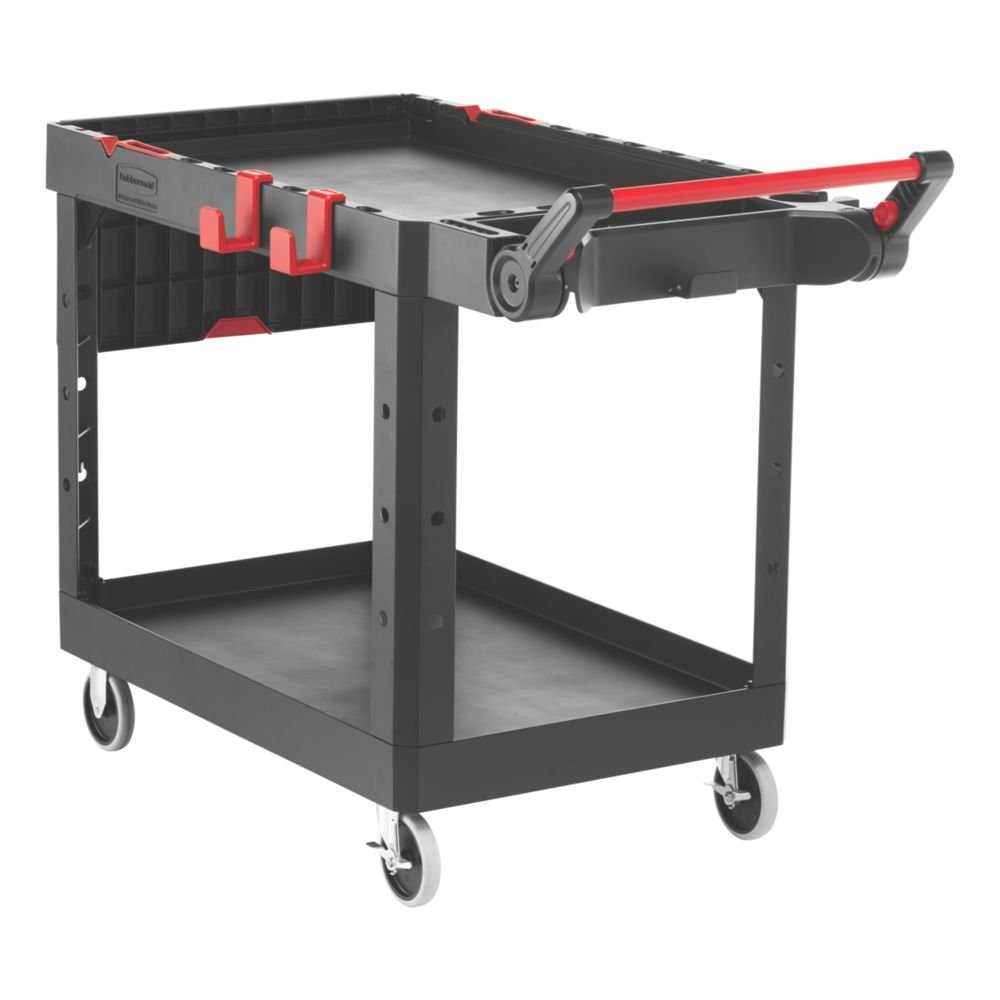 """Rubbermaid Commercial Products 1997208 Heavy Duty Adaptable Utility Cart, Black, Medium, 51.47"""" Height, 36.00"""" Width"""