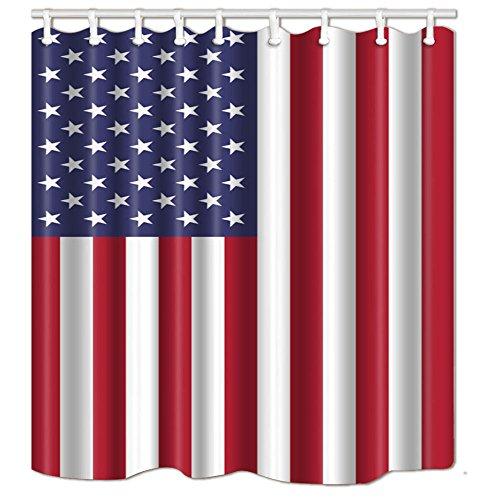 NYMB American USA Flag Decor Independence Day Bath