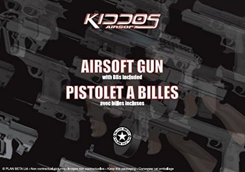 Plan Beta Pistolet G-Mod Silencieux Noir Laser Spring BK 0.5J Adulte Unisexe Lampe Taille Unique