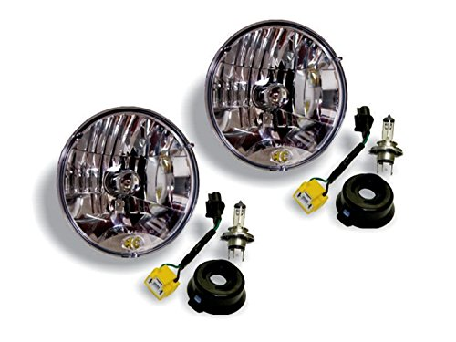 KC HiLiTES 42302 H4 Headlight Conversion Kit for Jeep JK ()