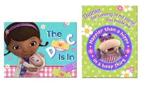Doc Envelope - Doc McStuffins Invitations w / Envelopes and Thank You Postcards (8ct each)