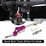 RYANSTAR Shifter Extender Adjustable Short Shifter for Honda Ciciv CRX Del Sol Acura Integra B or D Series Engine Purple