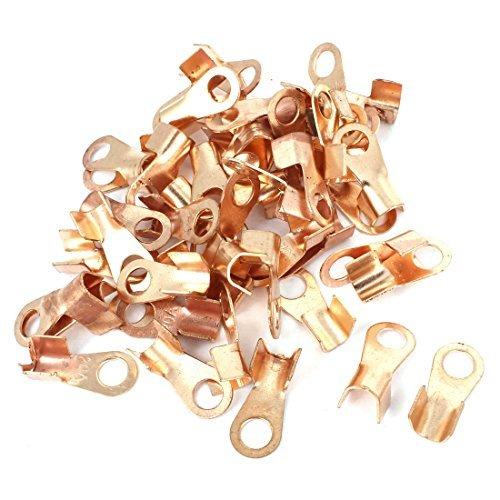 dealmux-50-pcs-20a-open-cable-wire-connector-ring-lug-copper-terminals