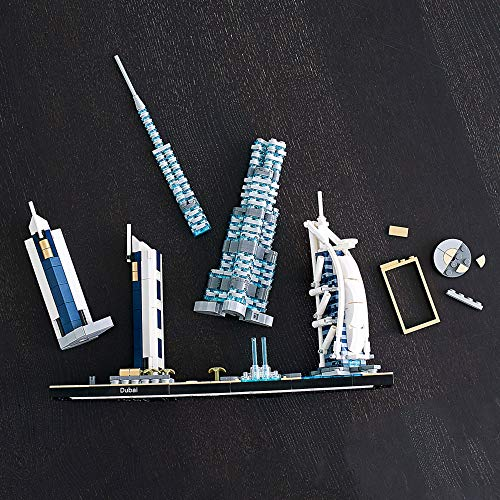 LEGO Architecture Skylines: Dubai 21052 Building Kit, Collectible Architecture Building Set for Adults, New 2020 (740 Pieces)