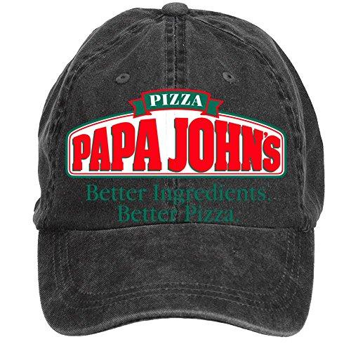 nusajj-papa-johns-ja-adult-unstructured-100-cotton-baseball-caps-design-black-one-size