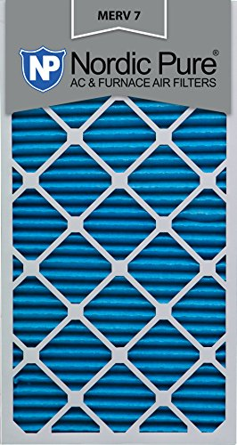 Nordic Pure 14x30x1M7-6 MERV 7 Pleated AC Furnace Air Filter, 14x30x1, Box of 6