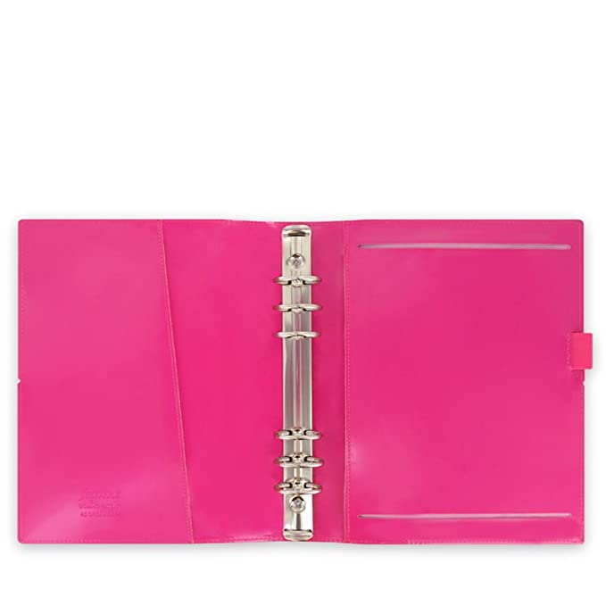 Filofax A5 Domino Patent Organiser - Hot Pink/Black/Red