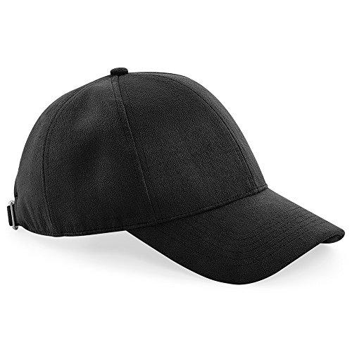 (Beechfield Unisex Faux Suede Cap (One Size) (Black))