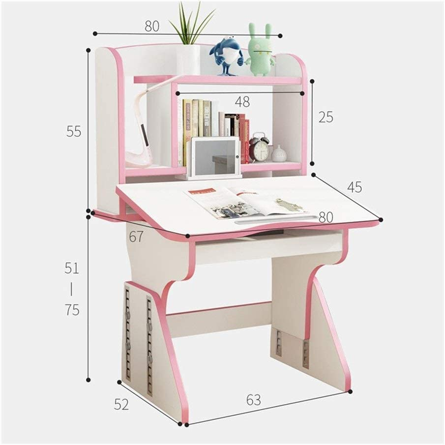 Amazon Com Wanglx Kids Desk And Chair Set For Girls And Boys Height Adjustable Children S Study Table With Large Storage Space Student School Desk Set Furniture Decor