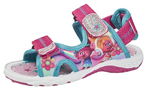 Lora Dora DreamWorks Girls Trolls Sports Sandals Princess Poppy Glitter Pink/Blue 10 UK Child