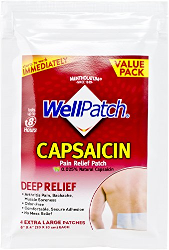 Natural Patches (WellPatch Natural Capsaicin Patches 4 XL Patches (8 Value Packs))