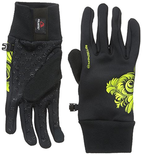 Manzella Women's Power Stretch Ultra Touchtip Gloves, Small/Medium, Black/Hi Viz ()
