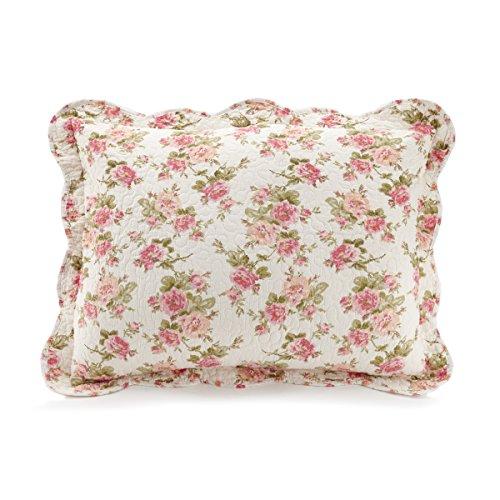 Peking Handicraft Sweet Roses Maryjane's Home, Standard Sham Antique Rose Pillow Sham