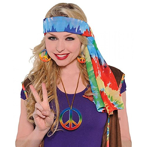 Hippie Headscarf Costume Adult (Dead Mouse Head Costume)
